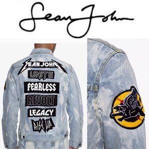 Men's Patch Back Denim Jacket